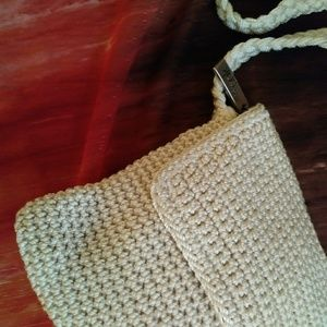 The Sak Bags - The Sak Flap Crossbody Crocheted Cream Bag Purse